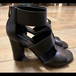 Franco Sarto Black Strappy Heels Sandals